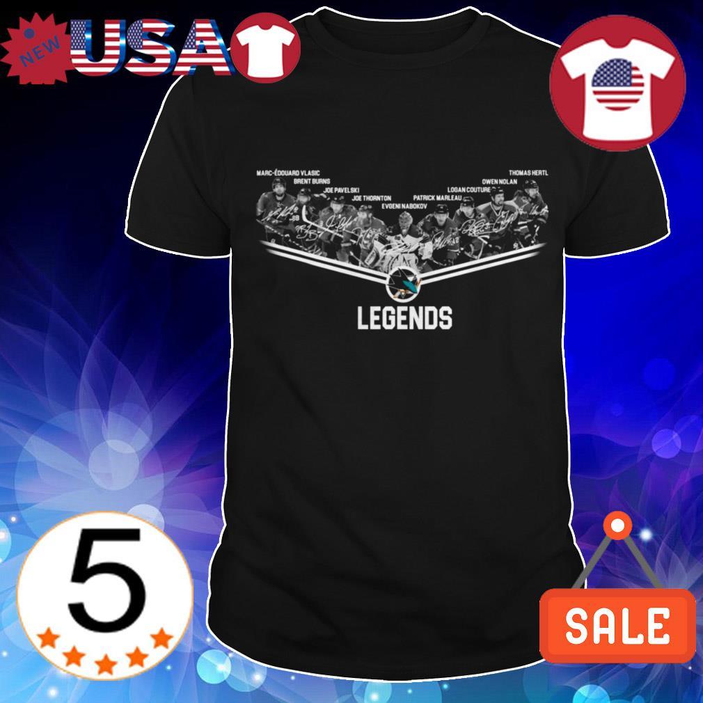 San Jose Sharks Legends players signature shirt