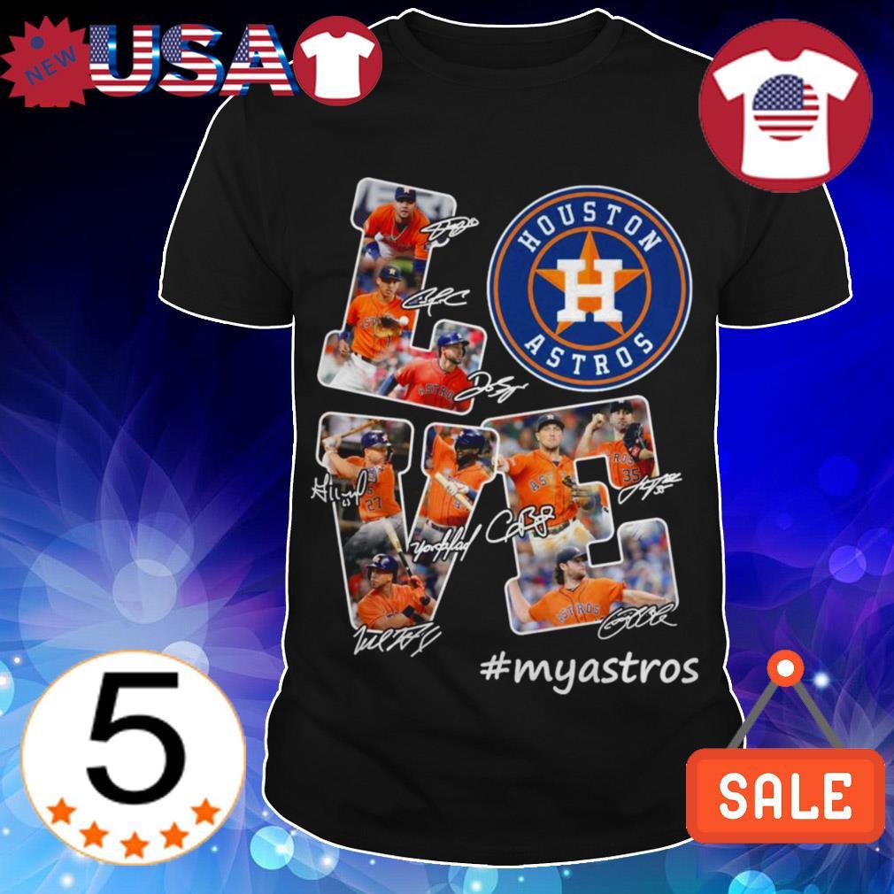 Houston Astros love #myastros signatures shirt