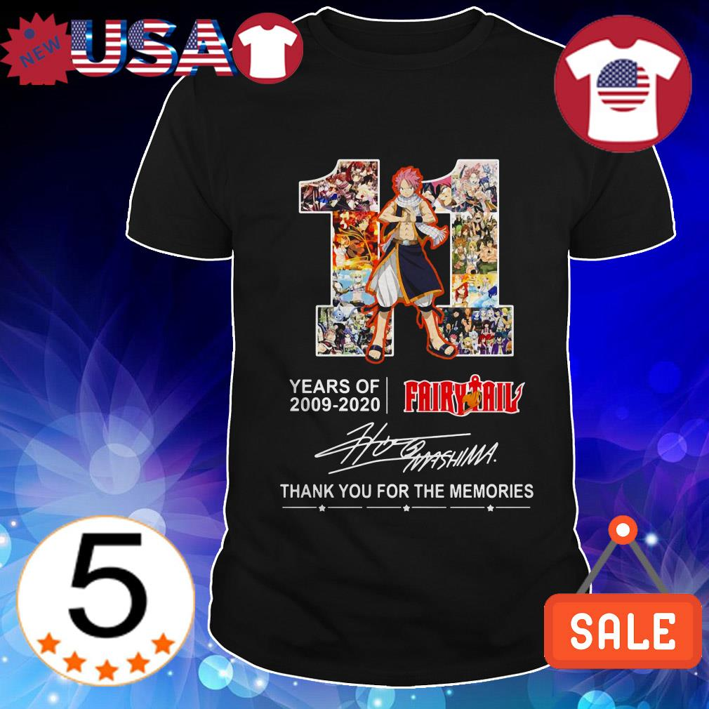 11 Years of Fairy Tail 2009-2020 thank you for the memories shirt