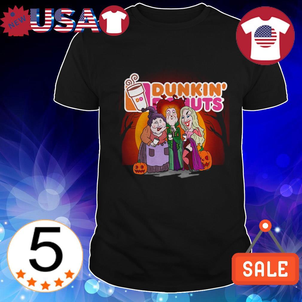 Hocus Pocus Drinking Dunkin' donuts Halloween shirt