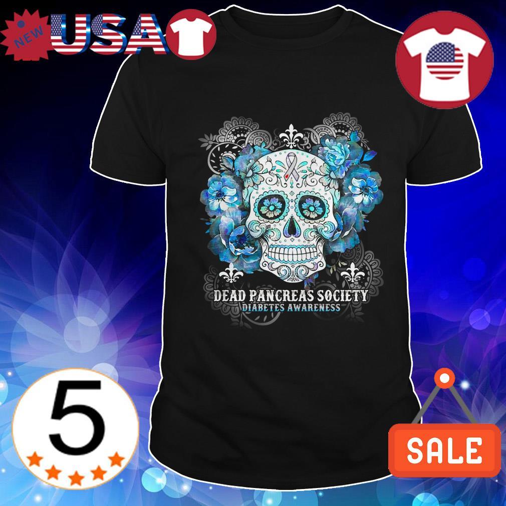 Skull tattoos cancer dead pancreas society diabetes awareness shirt