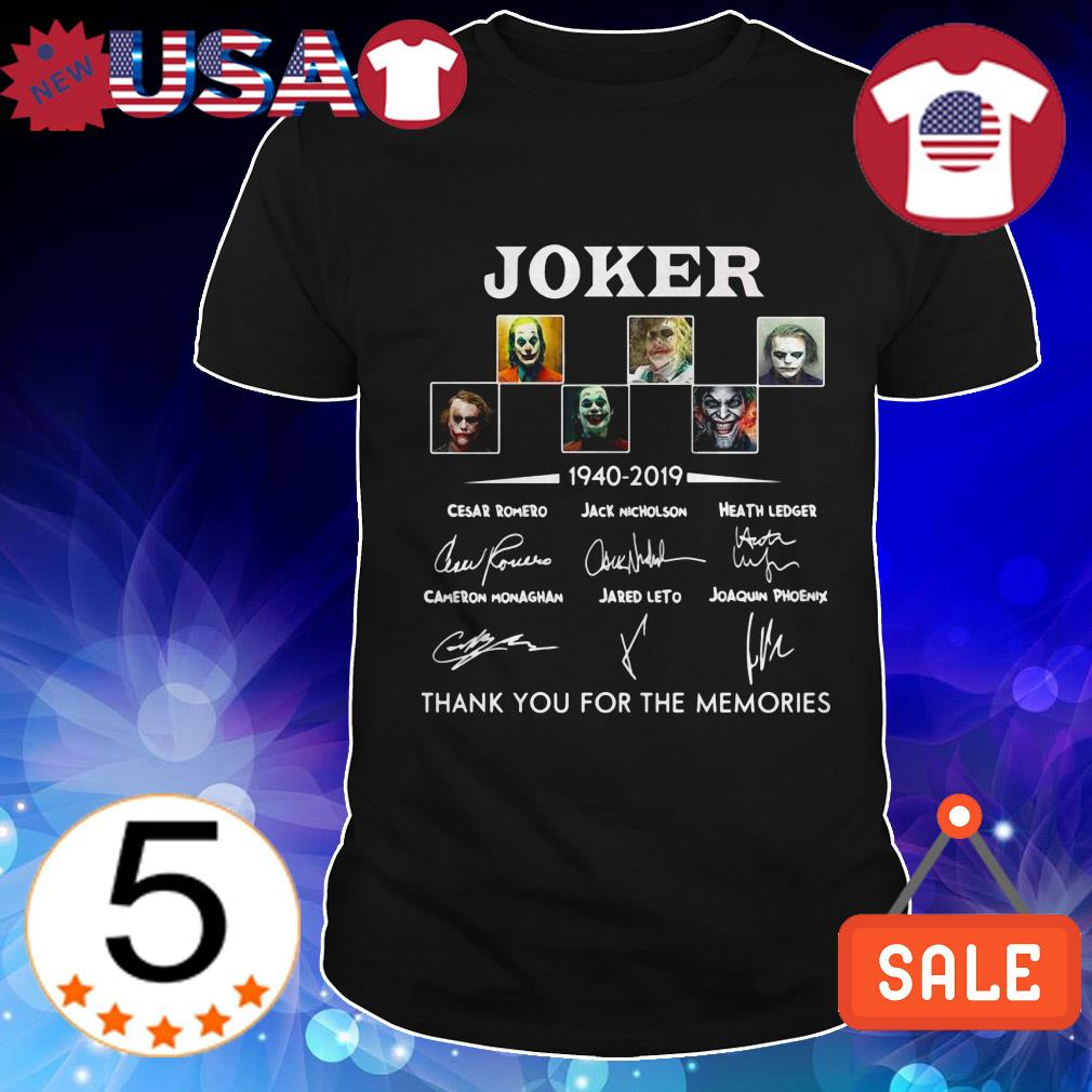 Joker 1940 2019 thank you for the memories signature shirt