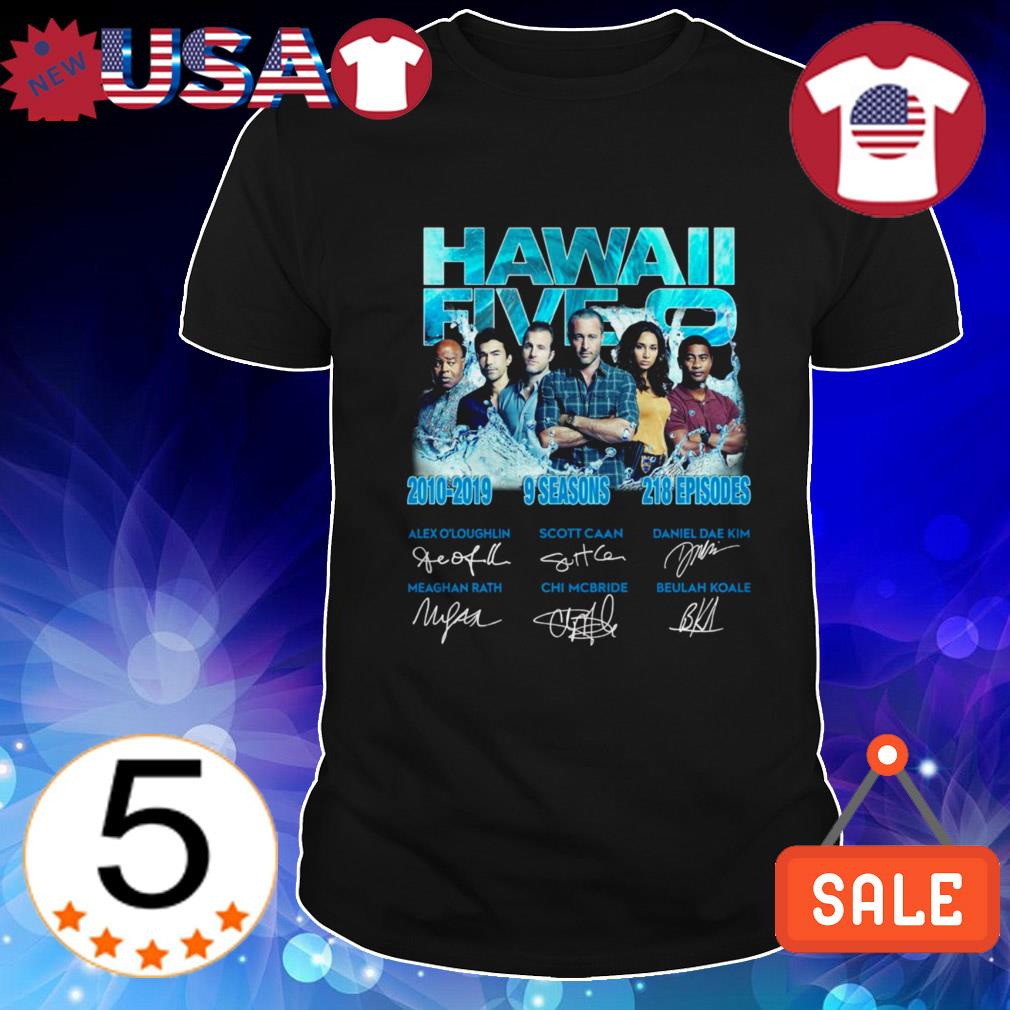 Hawaii Five 0 2010-2019 9 seasons 218 episodes signatures shirt