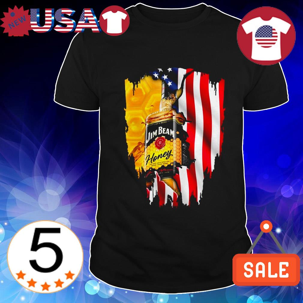 4th Of July independence day Jim Beam Honey Wine shirt