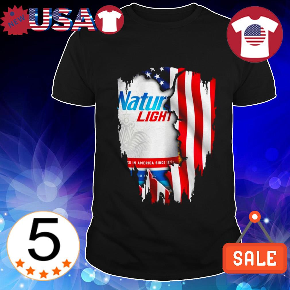 4th Of July independence day Nature Light Beer shirt