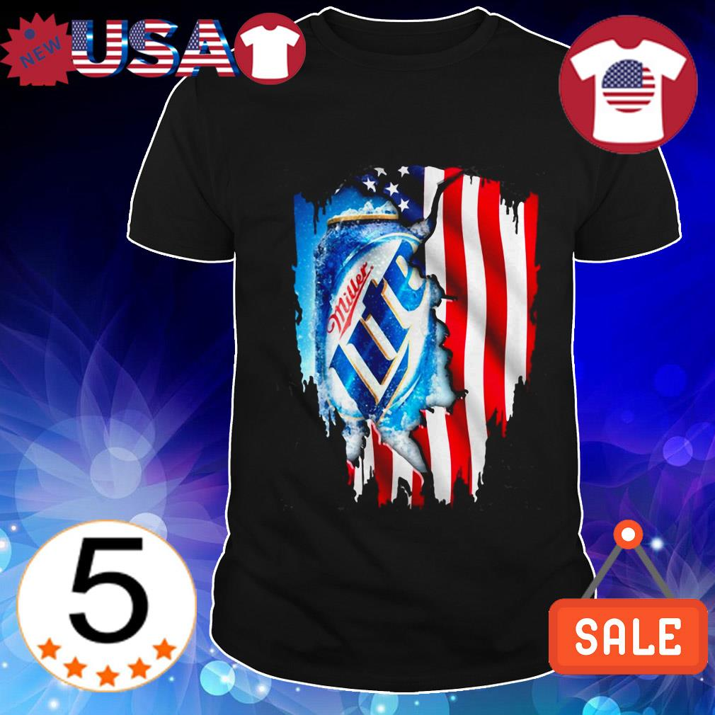 4th Of July independence day Miller Lite Beer shirt