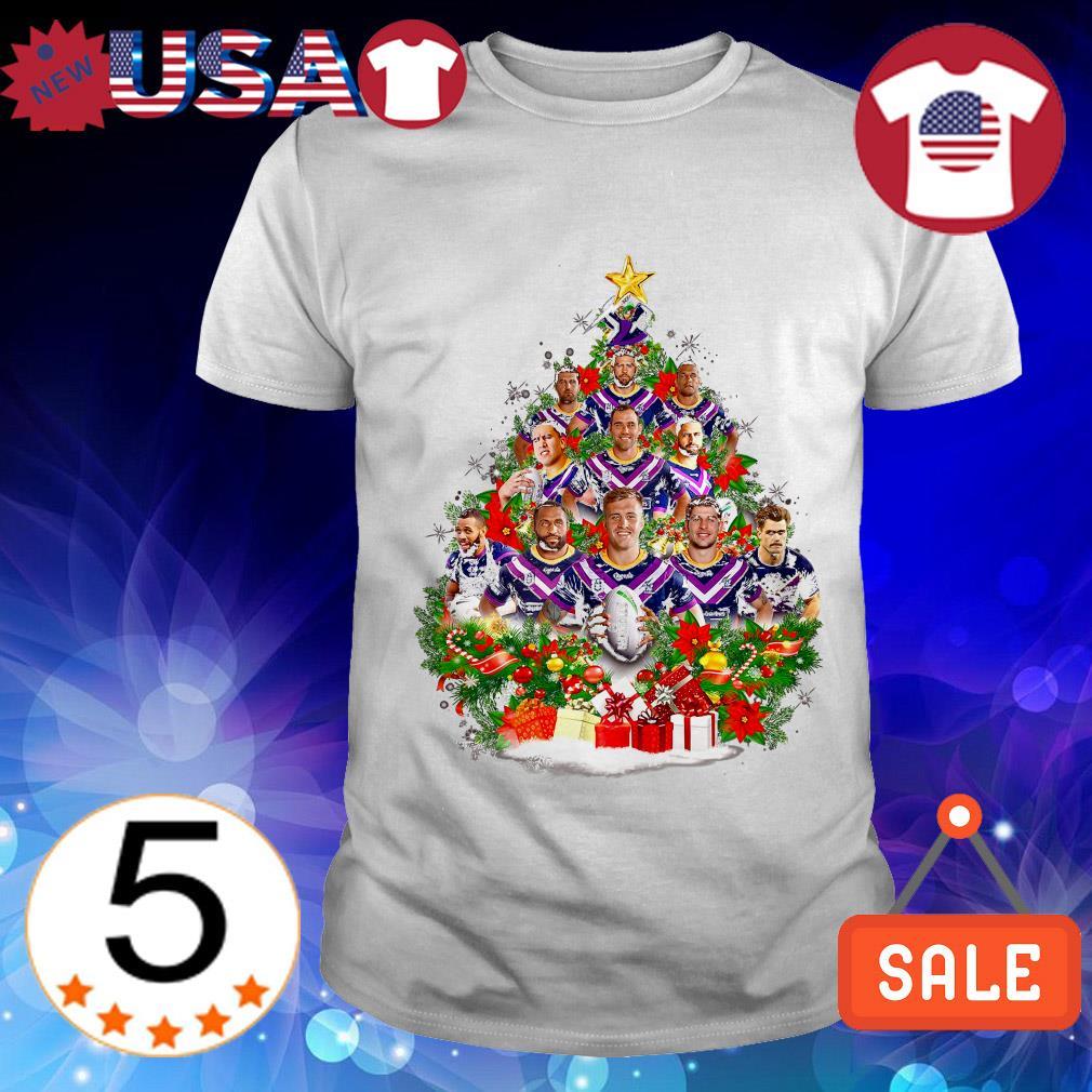 Melbourne Storm team players Christmas tree shirt
