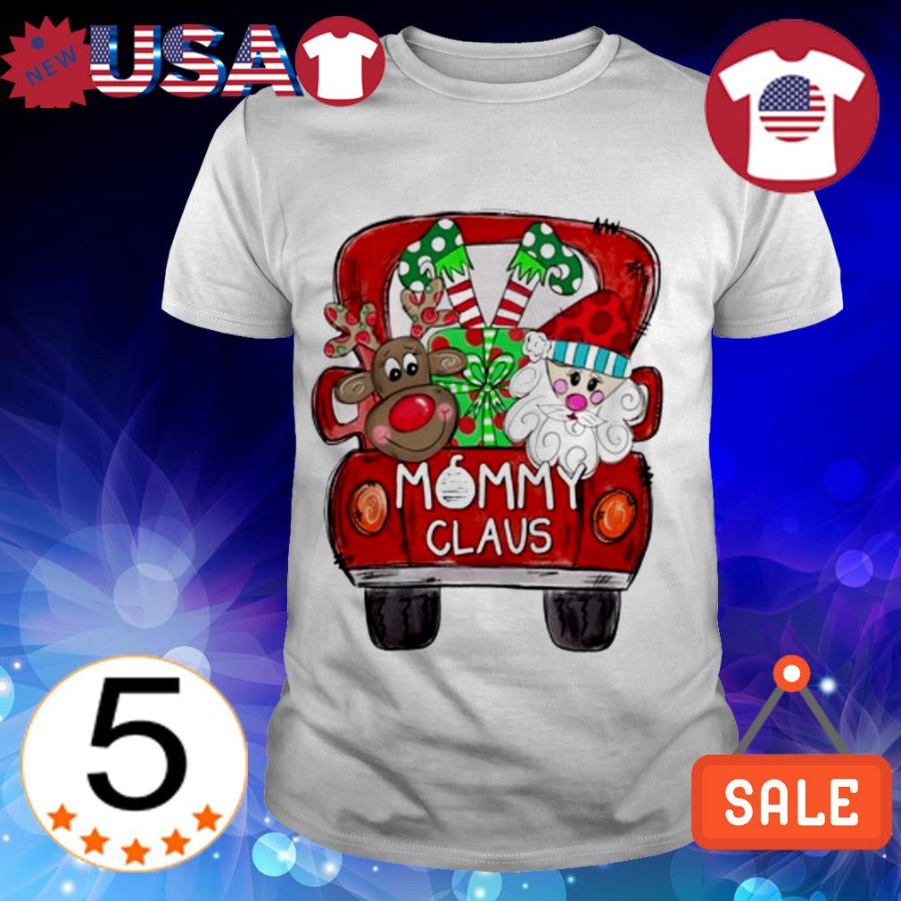 Merry Christmas Red car and gift Mommy Claus Sweater