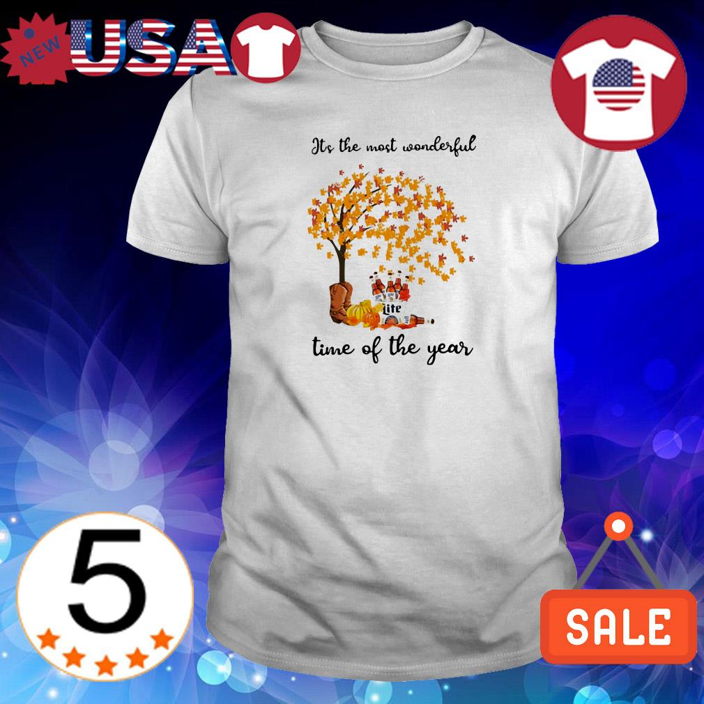 Miller Lite Autumn it's the most wonderful time of year shirt