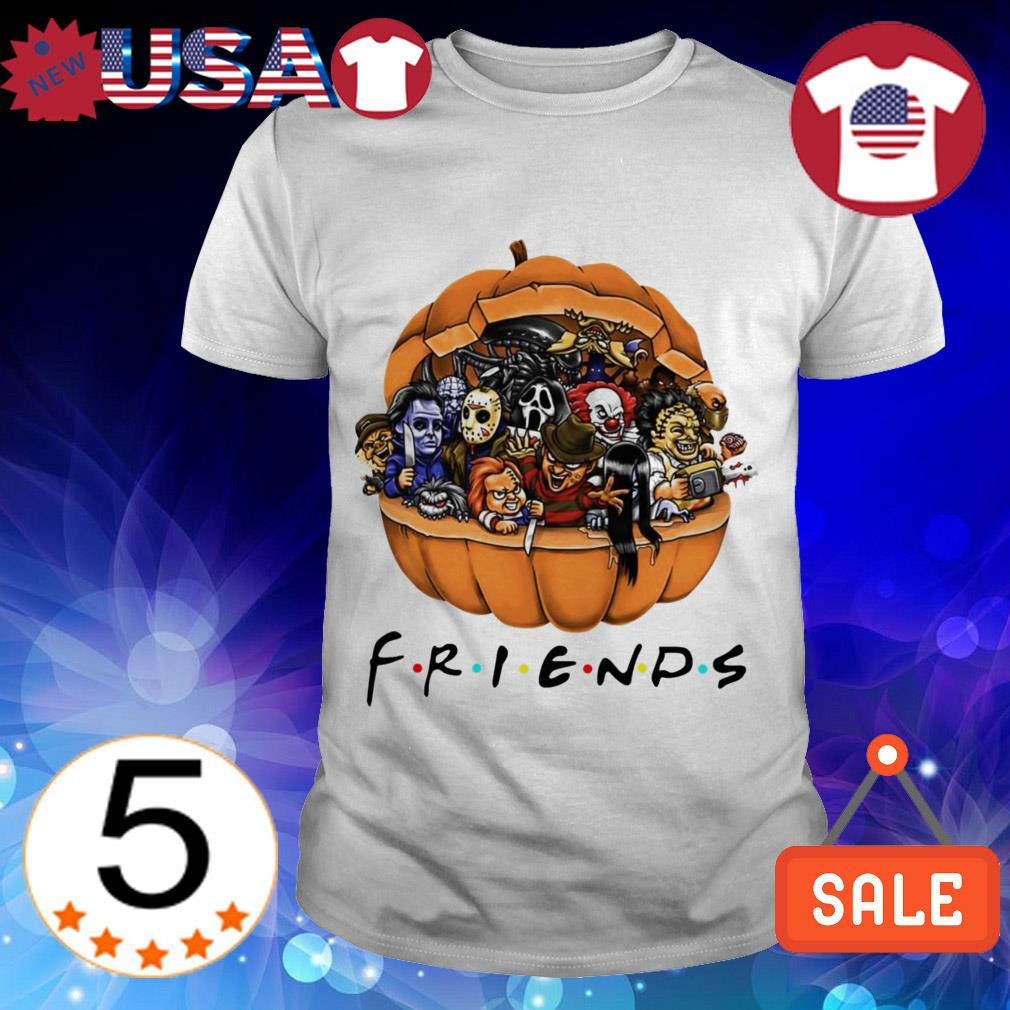 Horror characters Chibi in pumpkin Friends TV Show shirt