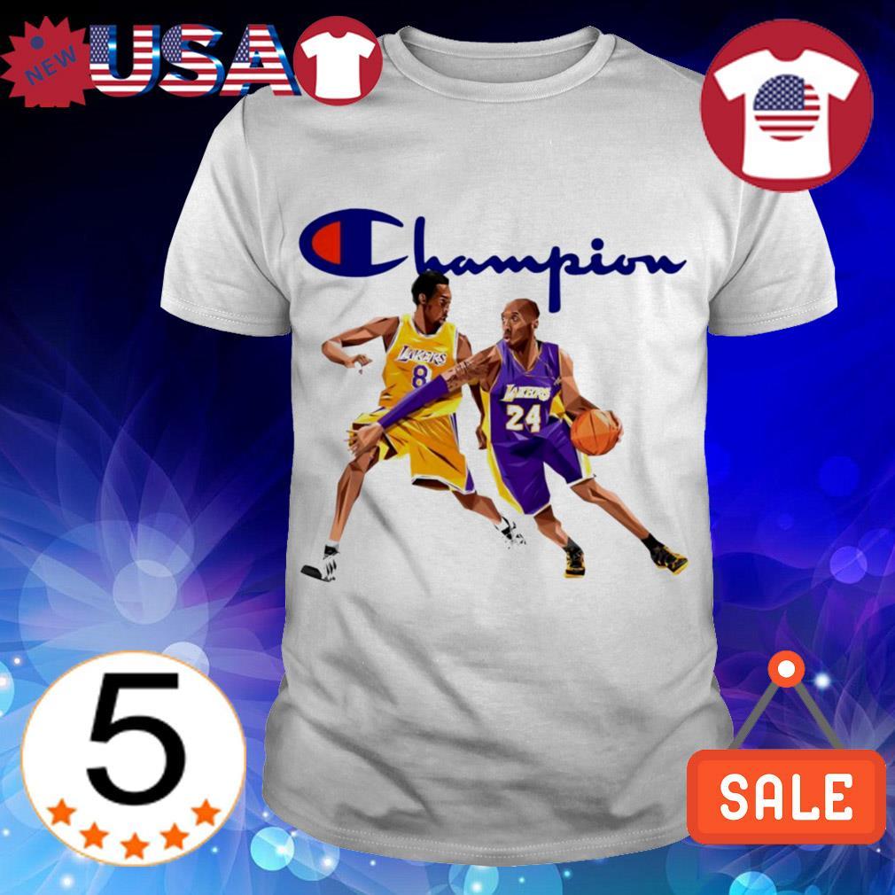 Kobe Bryant no 8 no 24 Lakers champion shirt