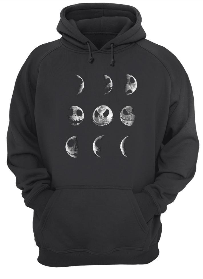 Jack Skellington face moon shirt