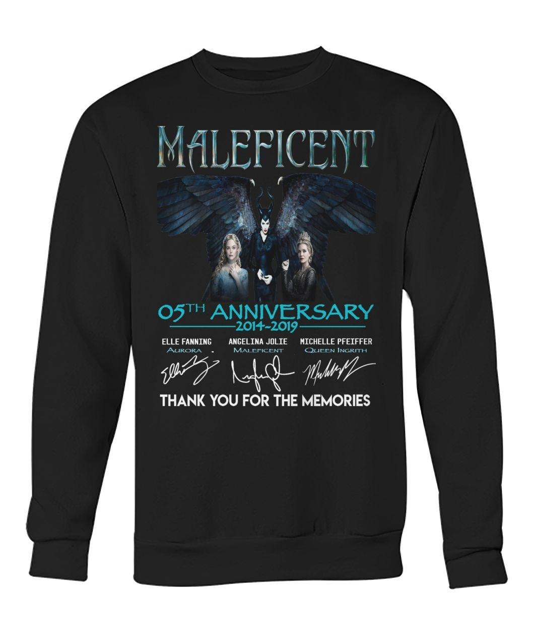 Maleficent 5th Anniversary 2014-2019 signatures thank you for the memories shirt