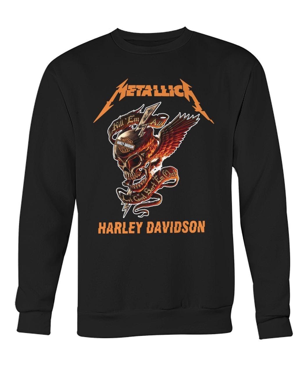 Metallica Harley Davidson Skull shirt