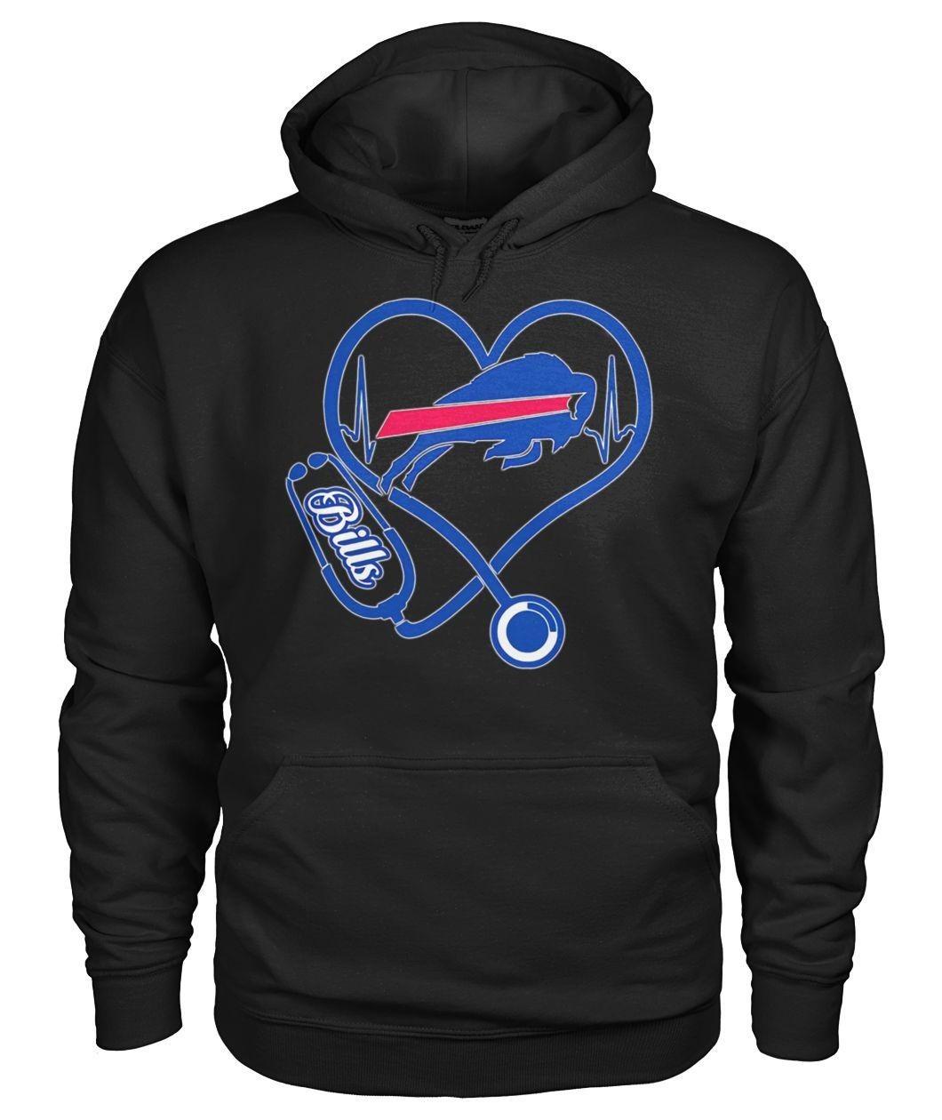 Nurse Heartbeat Buffalo Bills Shirt Sweater Hoodie And