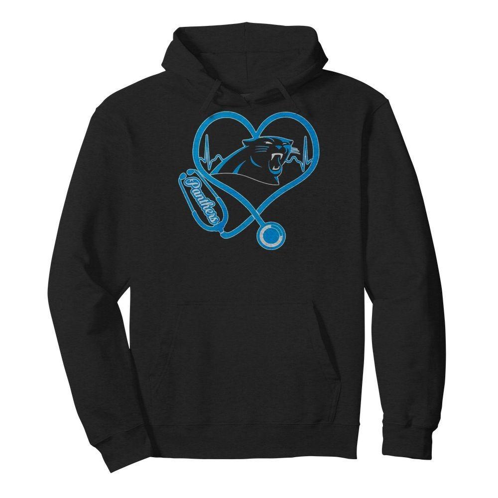 Nurse heartbeat Carolina Panthers shirt