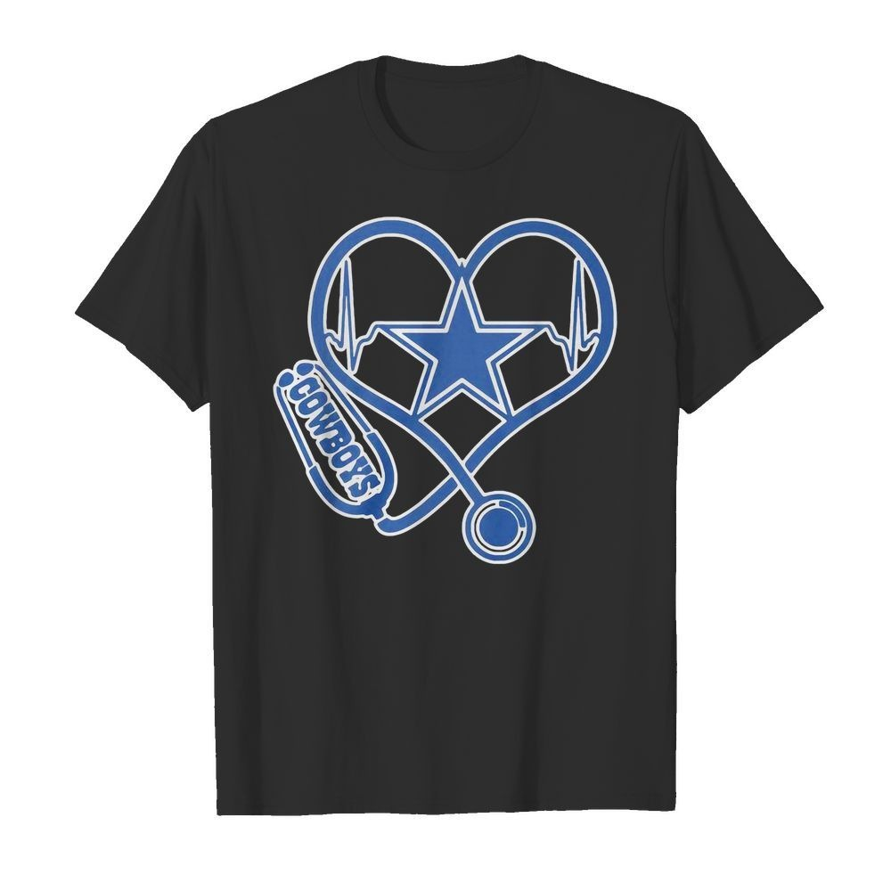 Nurse heartbeat Dallas Cowboys shirt