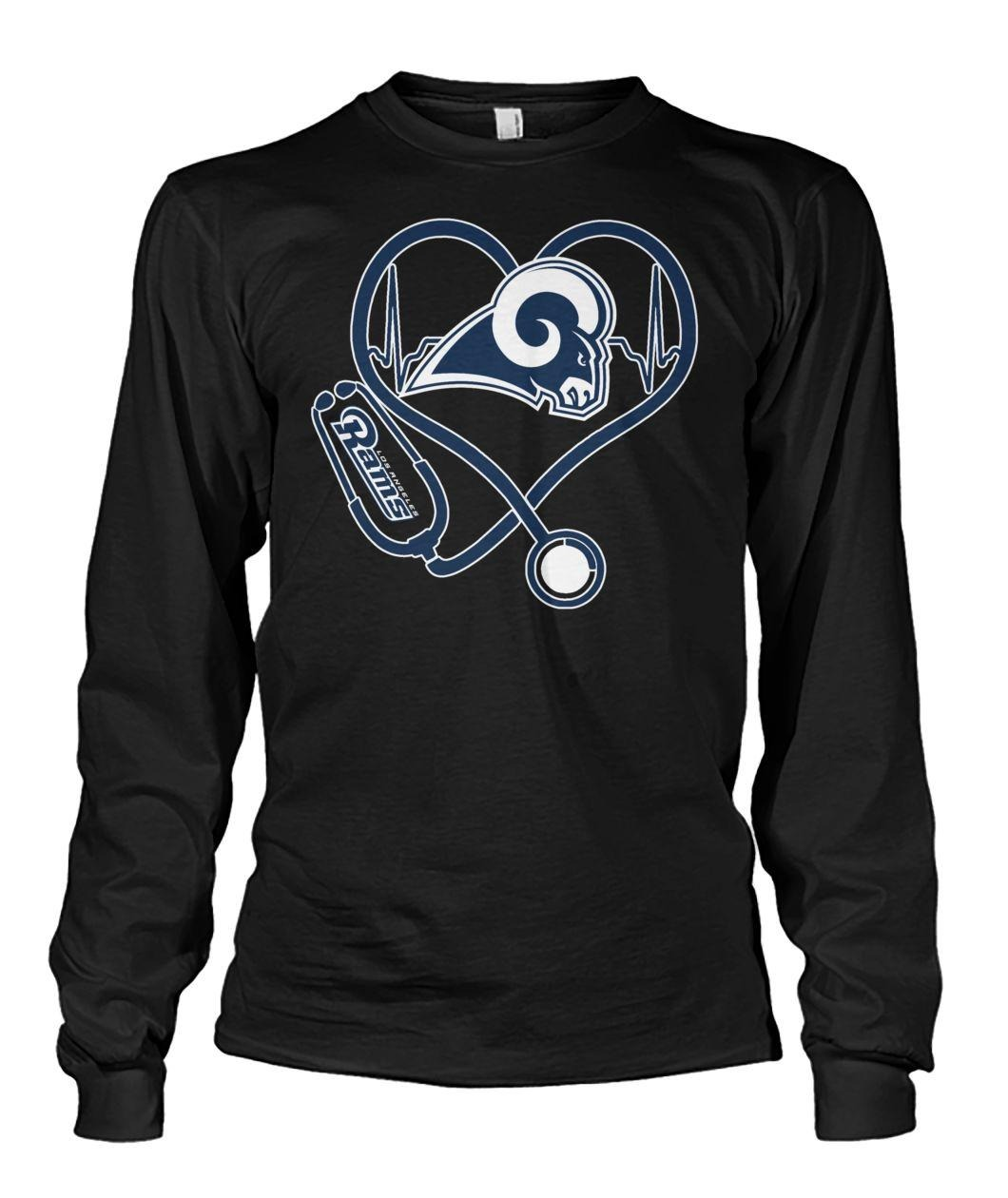 Nurse heartbeat Los Angeles Rams Longsleeve Tee