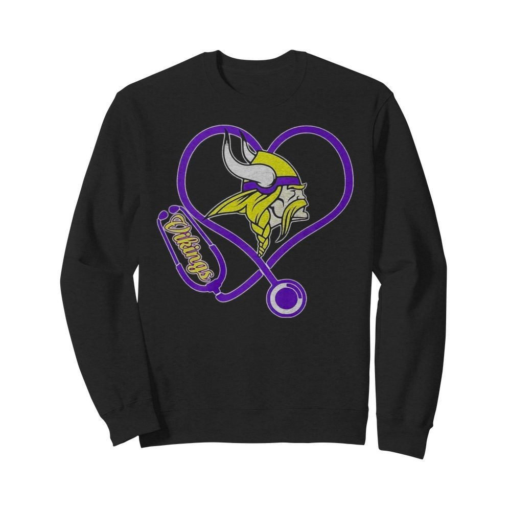 Nurse heartbeat Minnesota Vikings shirt