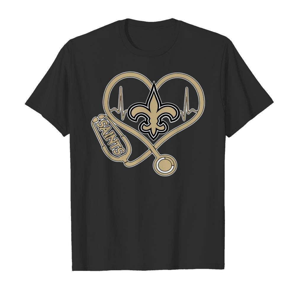 Nurse heartbeat New Orleans Saints shirt