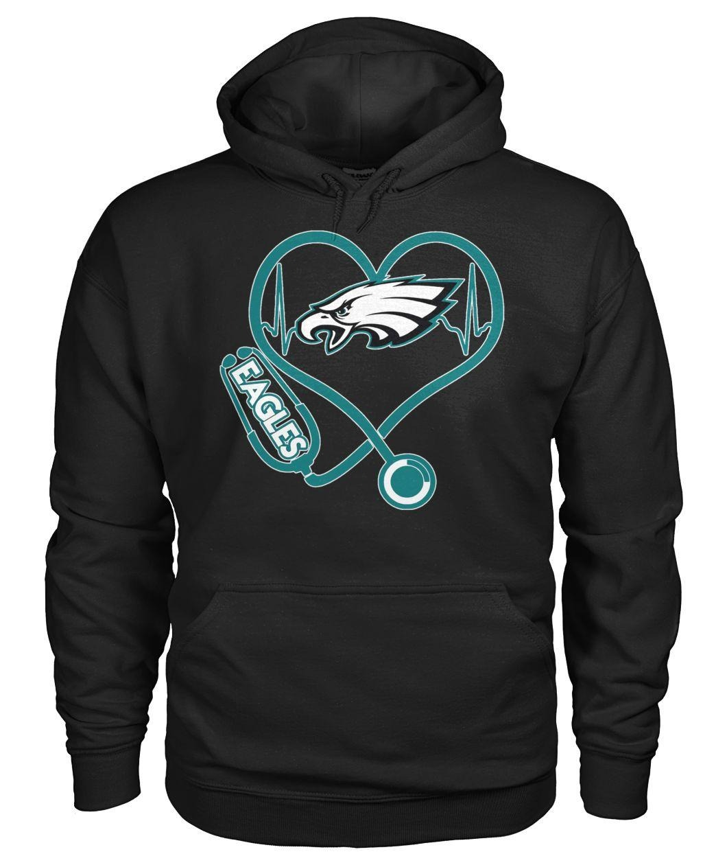 Nurse heartbeat Philadelphia Eagles Hoodie