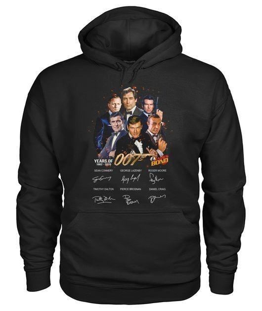 Original James Bond 50 Years Of 007 1962-2020 signatures shirt