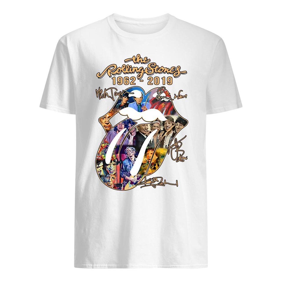 The Rolling Stones 1962-2019 Mick Jagger Ronnie Wood signatures shirt