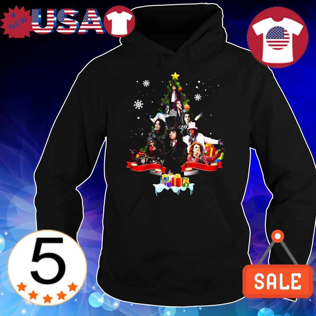 Alice Cooper Christmas tree sweater