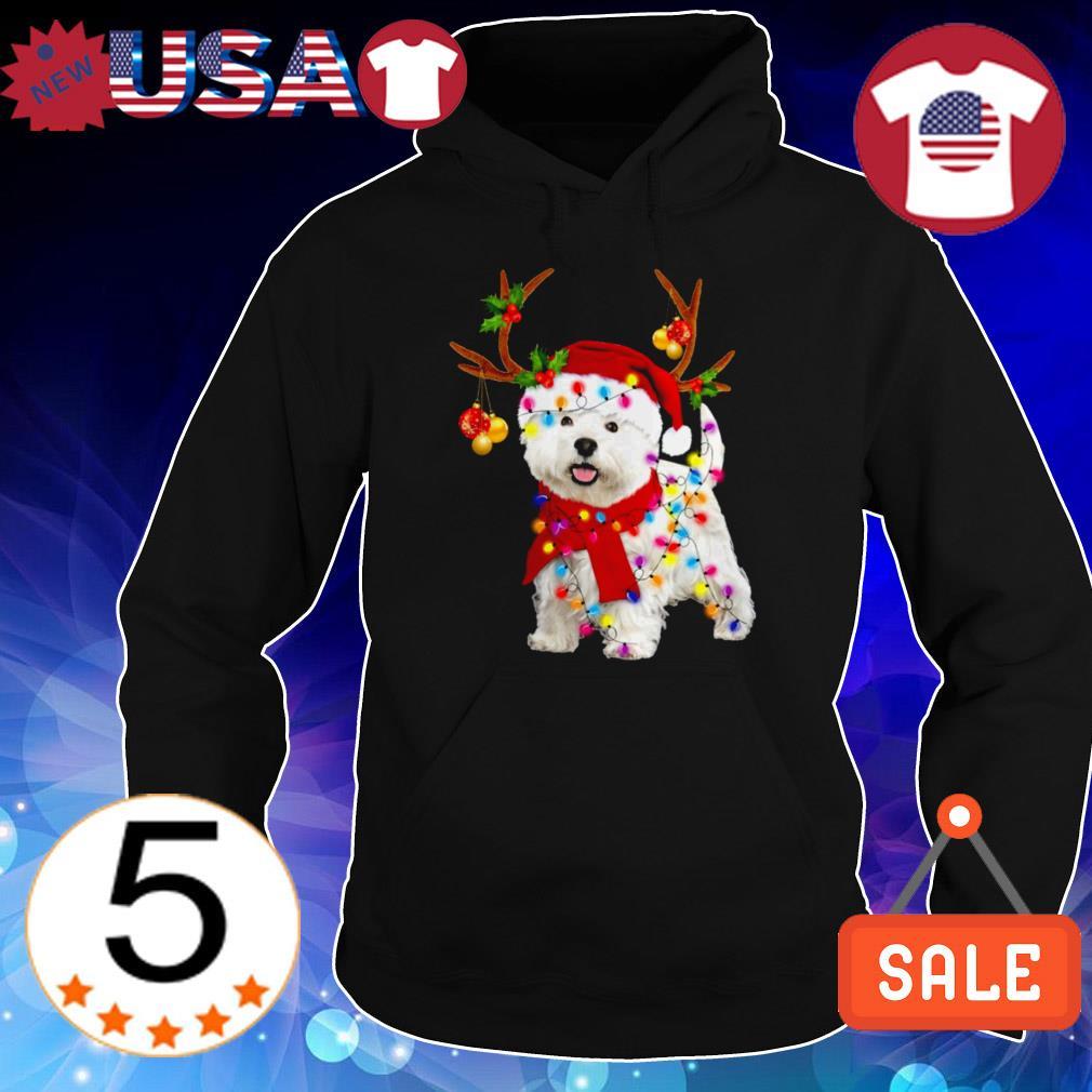 Westie gorgeous reindeer Christmas sweater