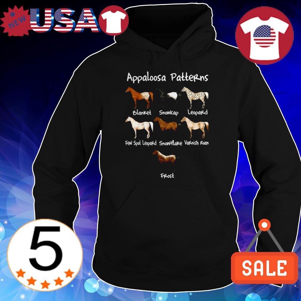 Appaloosa Patterns blanket snowcap leopard few spot leopard snowflake varnish roan frost horse shirt