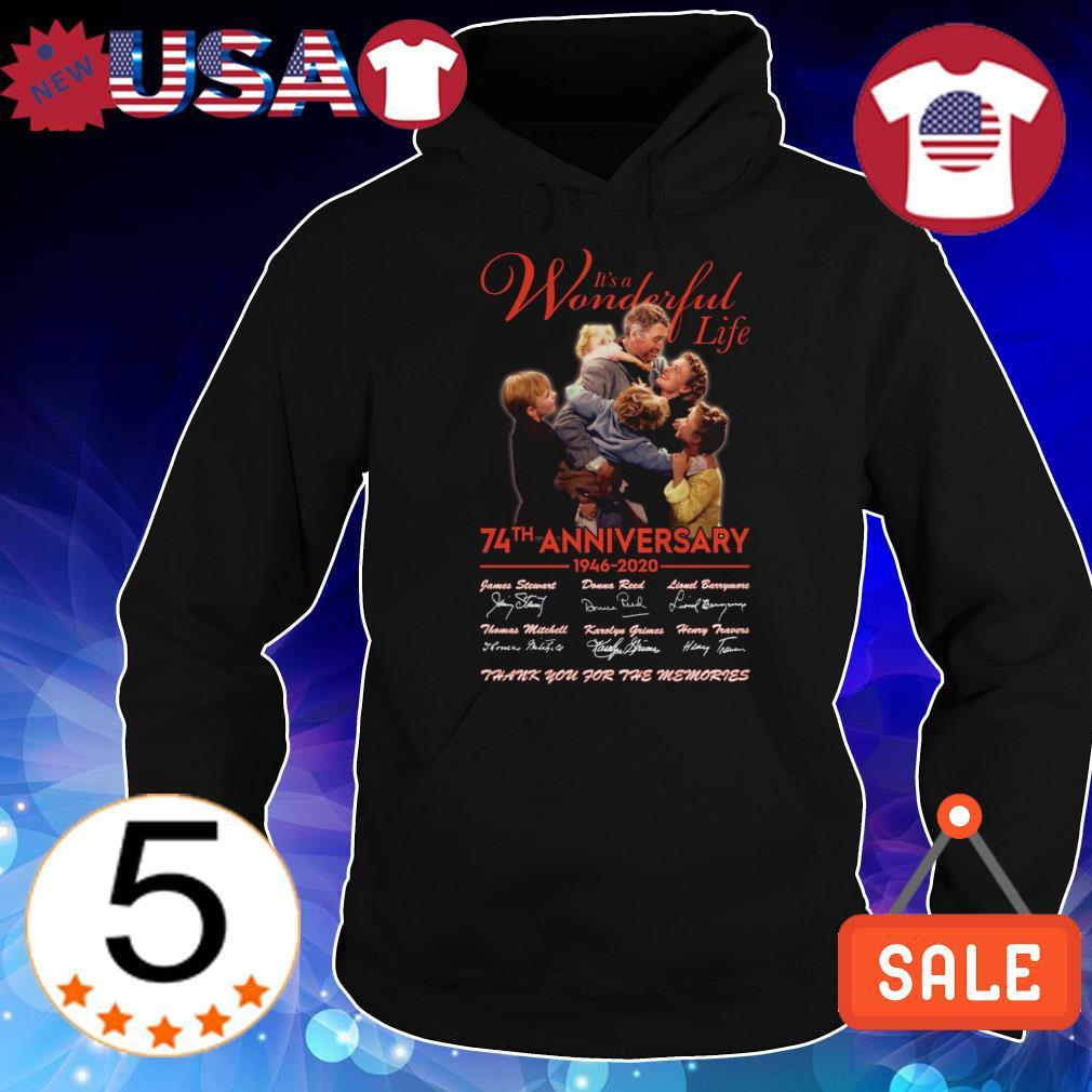 It's a Wonderful Life 74th anniversary 1946 2020 thank you for the memories shirt