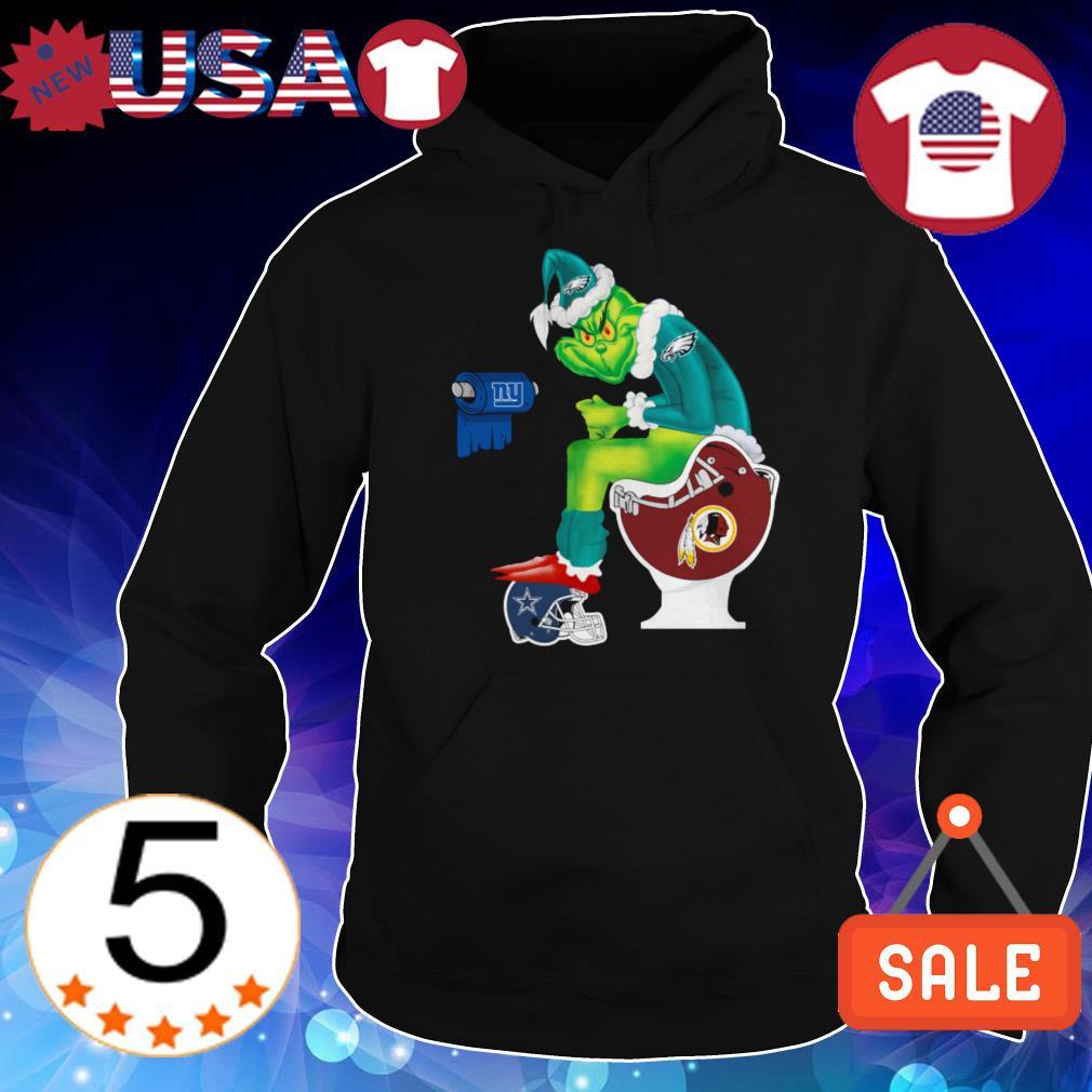 Philadelphia Eagles Santa Grinch toilet Dallas Cowboys Washington Redskins sweater