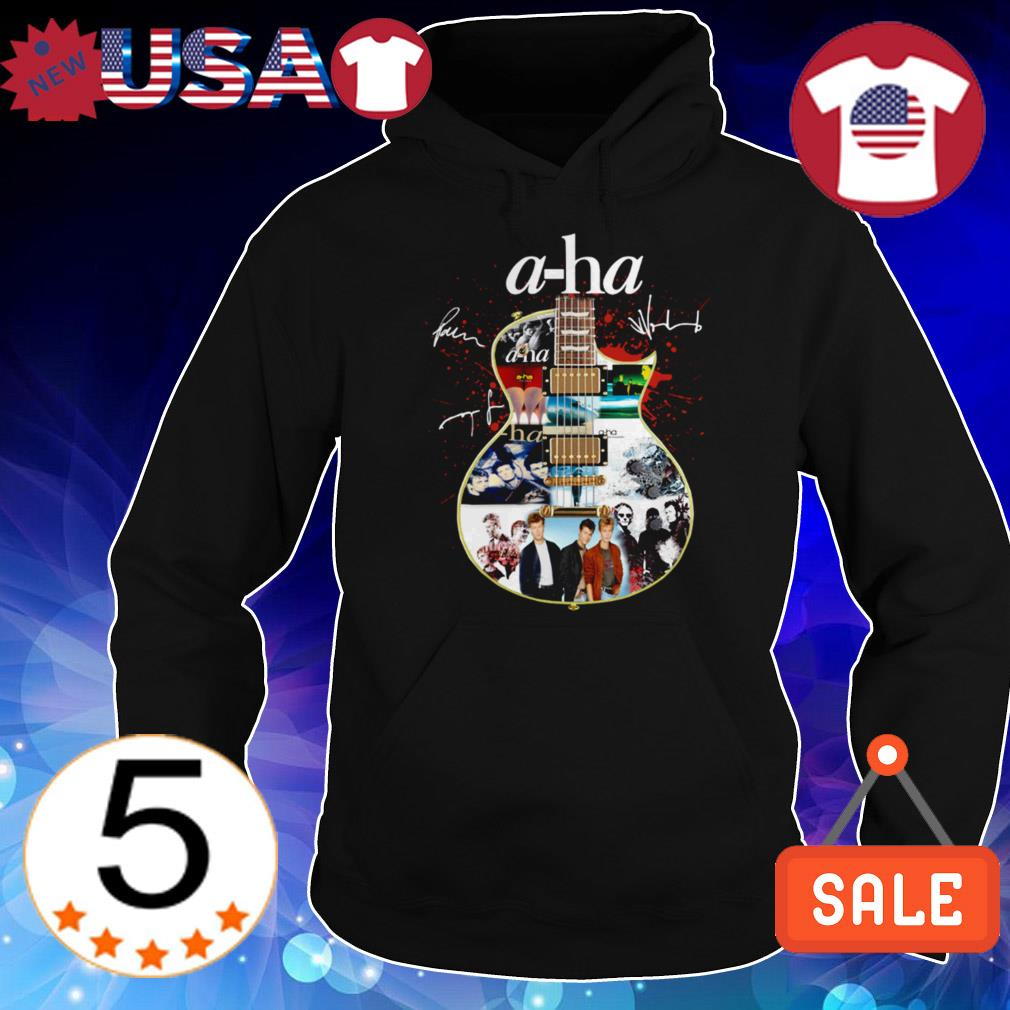 A-ha band guitar signature shirt