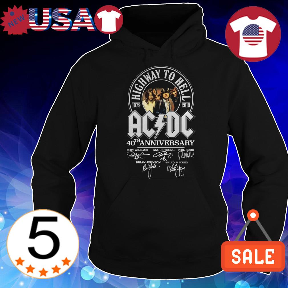ACDC 40th Anniversary 1979 2019 Highway To Hell band signatures shirt