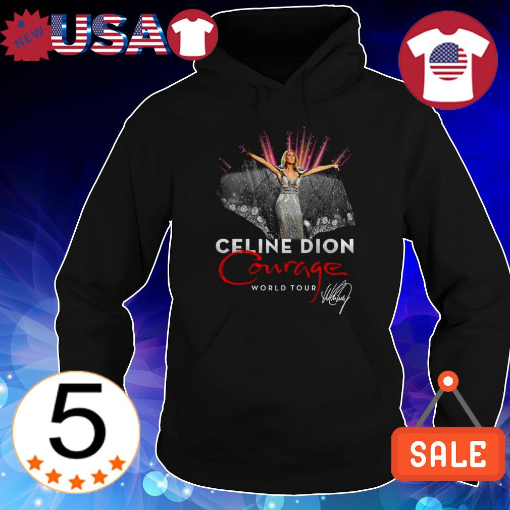 Celine Dion courage WORLD TOUR signature shirt