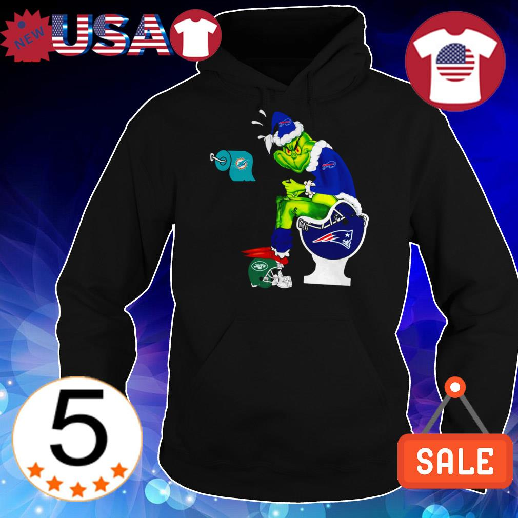 New England Patriots Grinch toilet Miami Dolphins New York Jets Christmas sweater