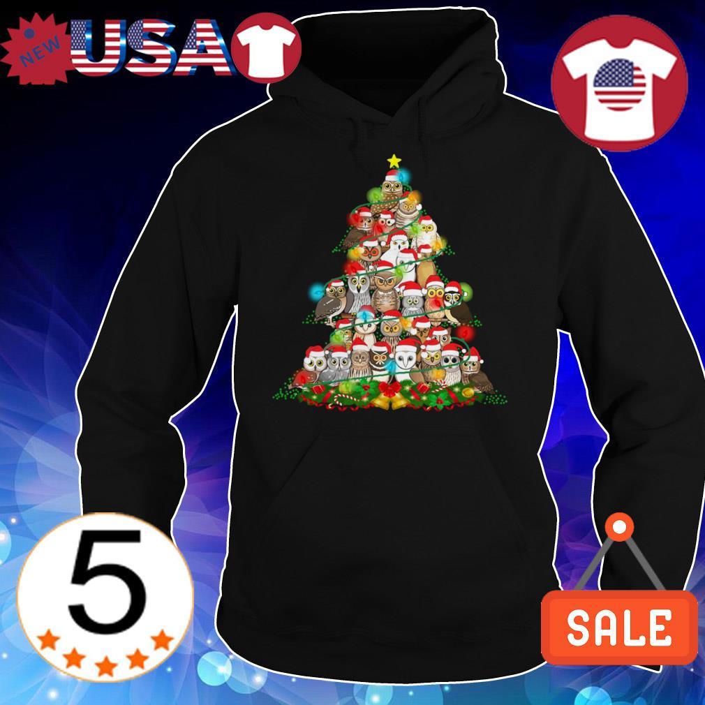 Owl Christmas gift tree sweater