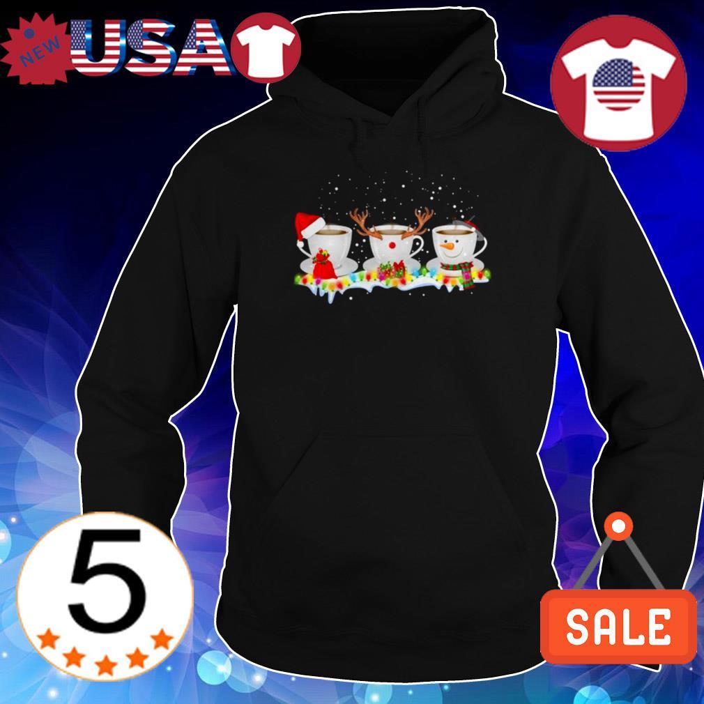 Three coffee cups Christmas sweater
