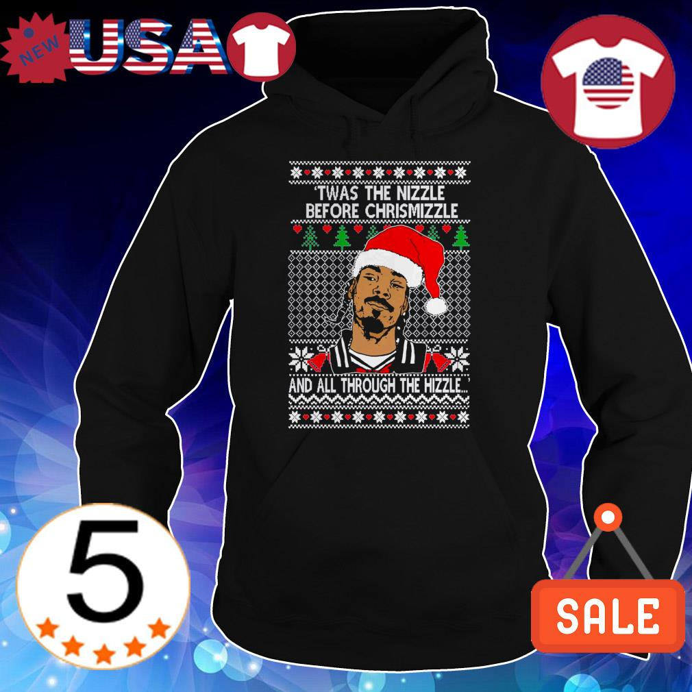 Snoop Dogg Twas the nizzla before Christmizzle and all through the hizzle sweater