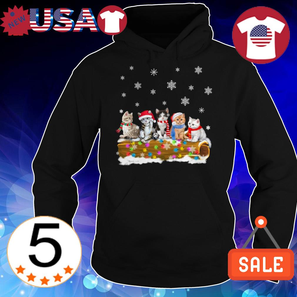 Cat merry and bright Christmas sweater