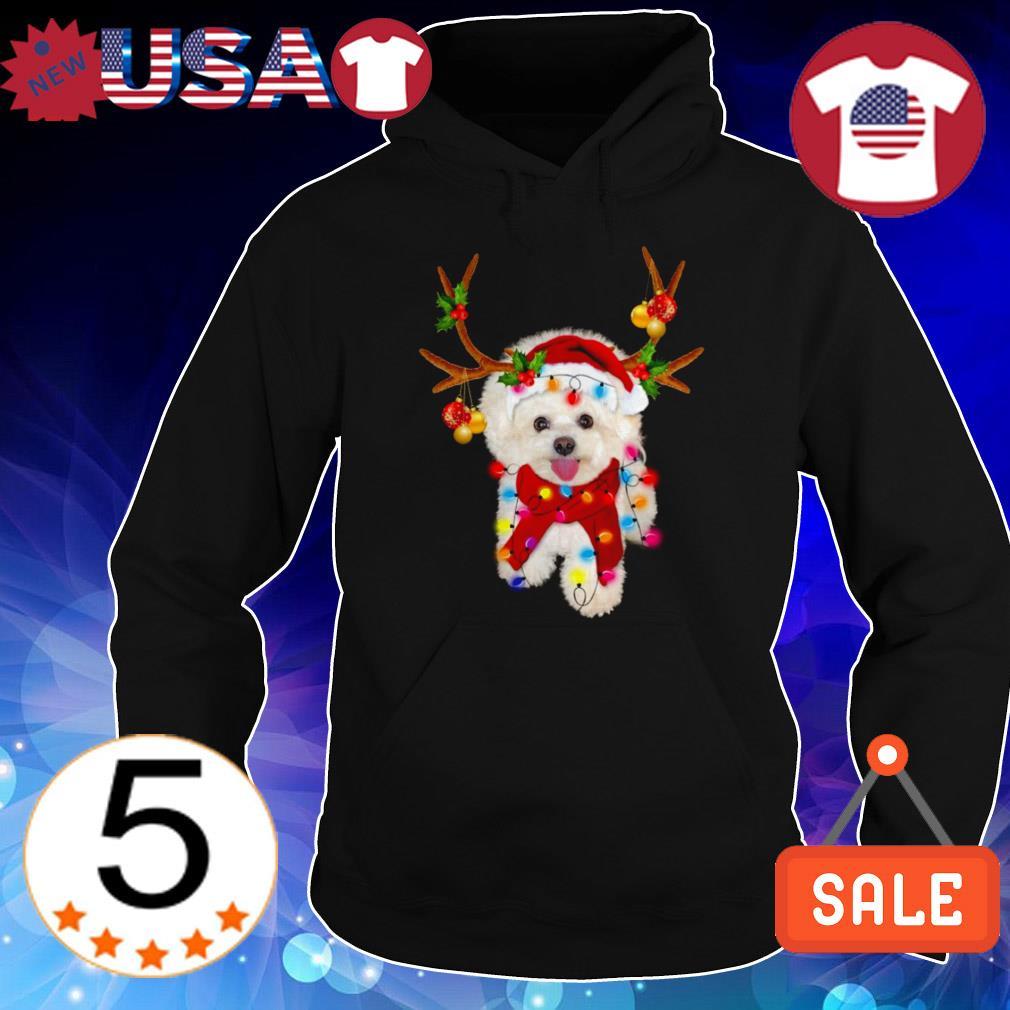 Bichon frise gorgeous reindeer Crewneck Christmas sweater