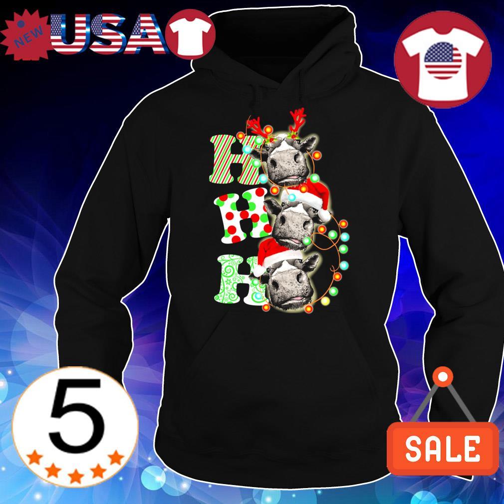 Cows Ho Ho Ho Christmas sweater