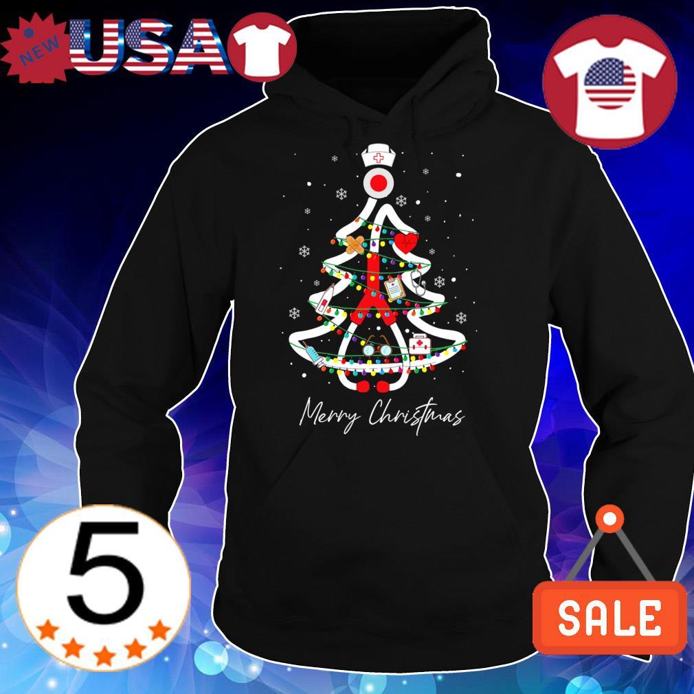 Nurse tree Merry Christmas sweater