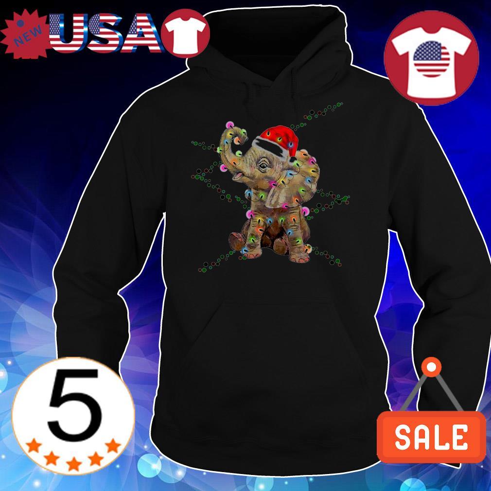 Elephant color light Christmas sweater