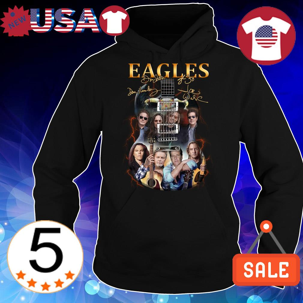 Guitar Eagles Rock Band signature shirt