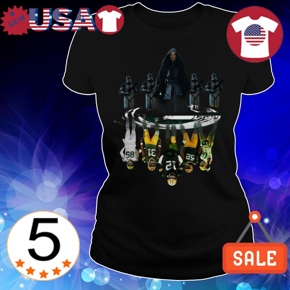 Star Wars Aaron Rodgers water reflection mirror Green Bay Packers shirt