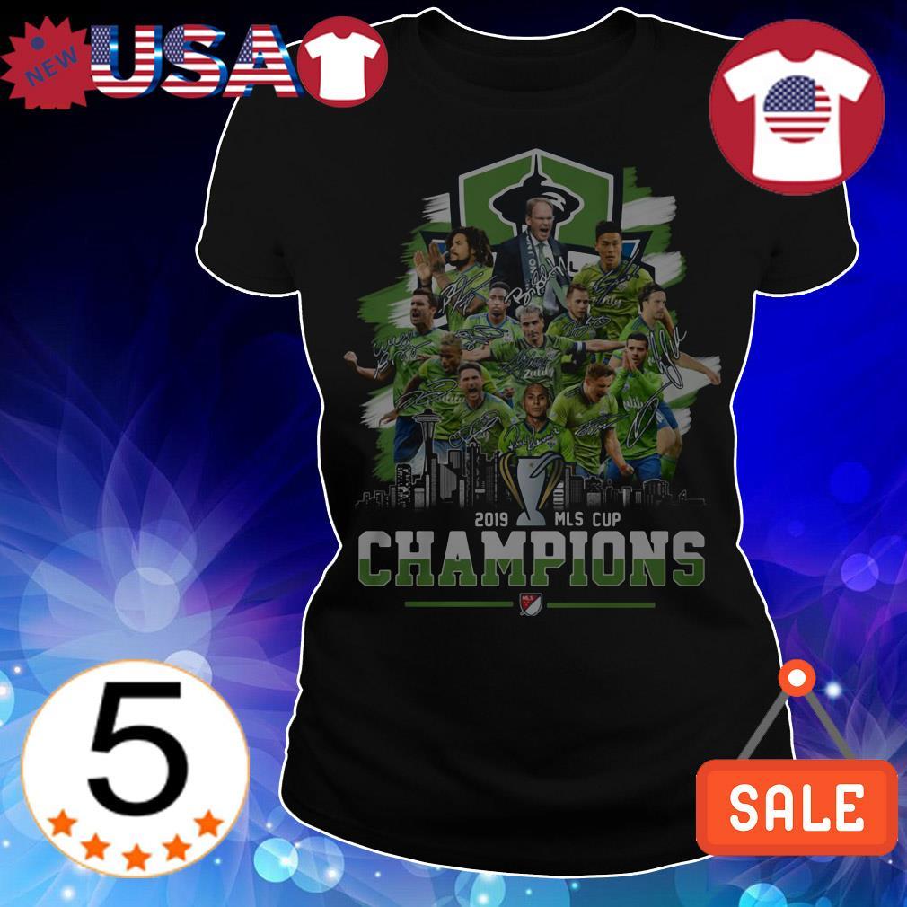 Seattle Sounders FC Major League Soccer MLS CUP 2019 champions signature shirt