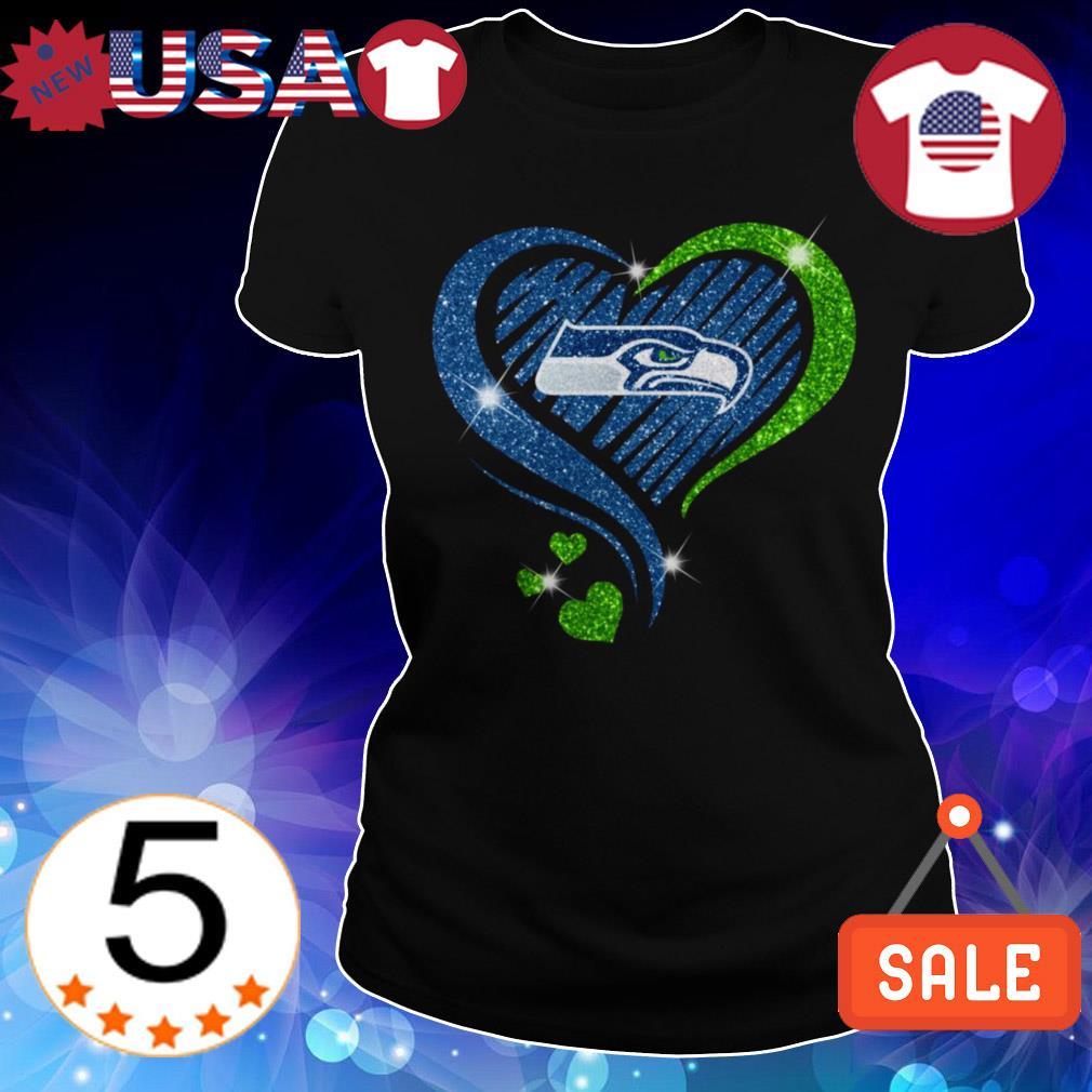 Diamond Seattle Seahawks heart shirt
