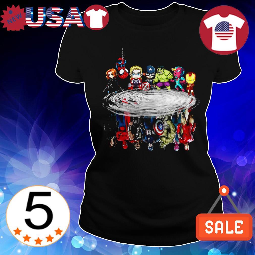 Marvel Avengers Chibi characters water mirror reflection shirt