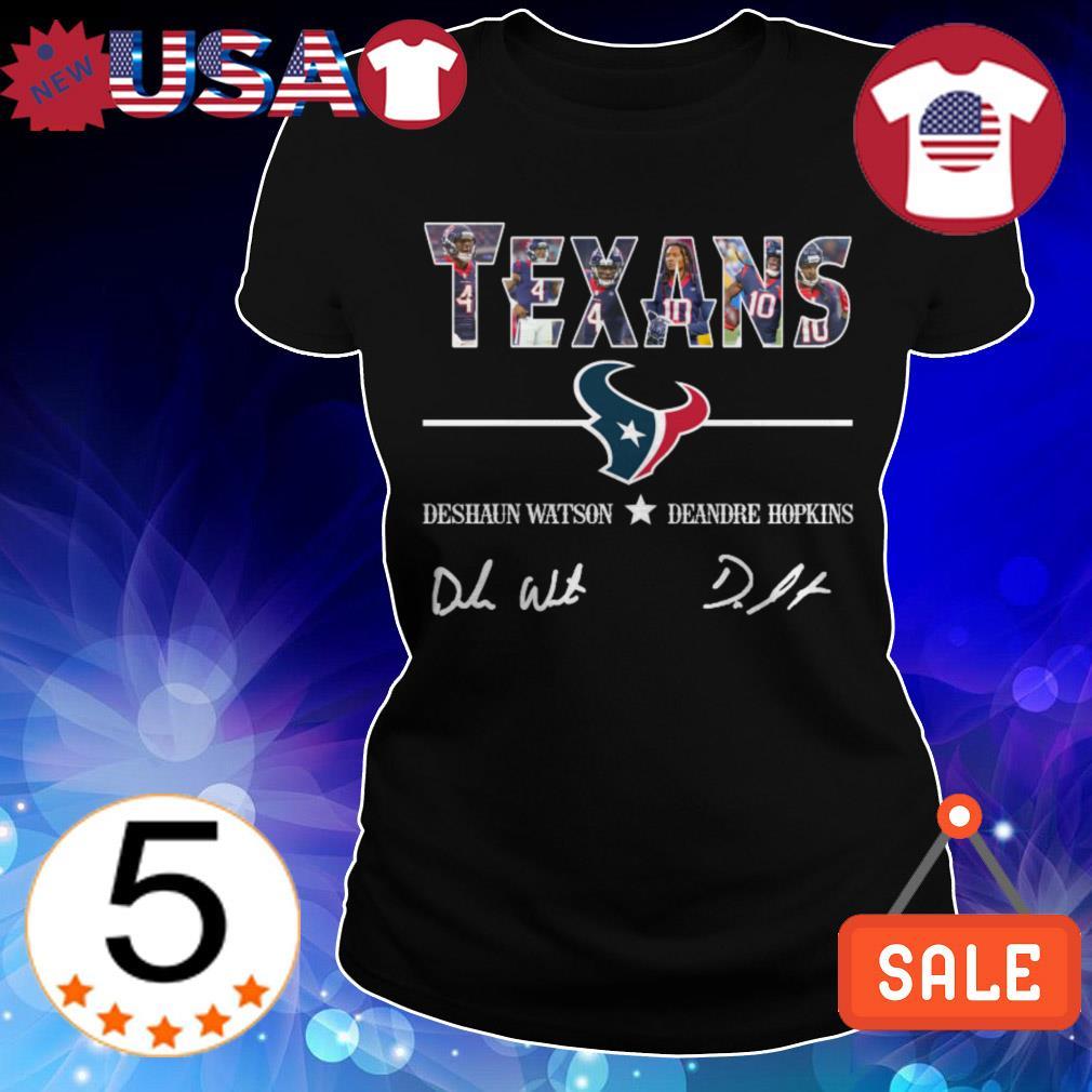 Houston Texans Deshaun Watson Deandre Hopkins players signatures shirt